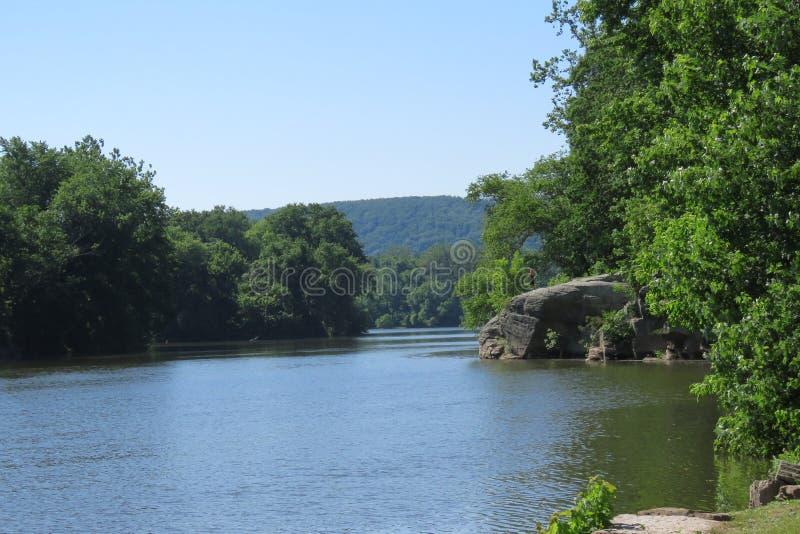 Vista cênico do Rio Susquehanna imagem de stock royalty free