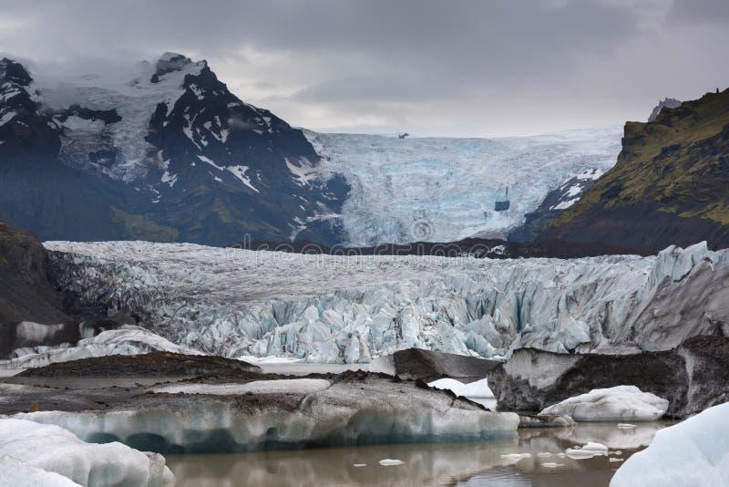 Vista cênico dos iceberg na lagoa da geleira fotos de stock
