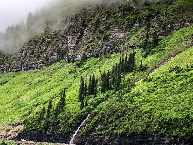 Vista cênico no parque nacional de geleira em Montana imagens de stock royalty free