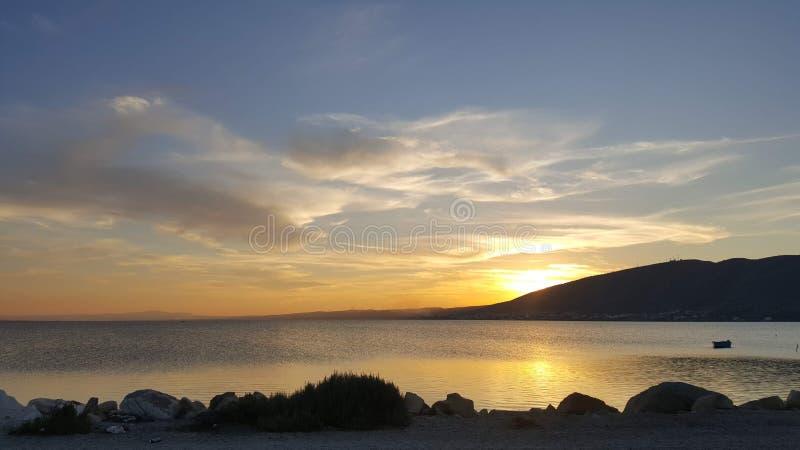 Vista calma dalla spiaggia immagini stock libere da diritti
