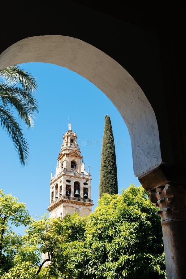 Vista capítulo de la catedral de la mezquita de Córdoba foto de archivo libre de regalías