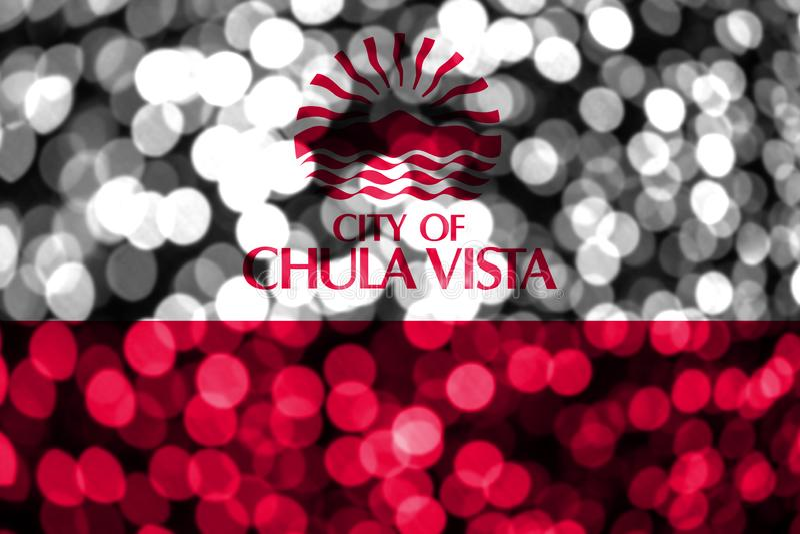 Vista Chula, αφηρημένη μουτζουρωμένη σημαία bokeh Καλιφόρνιας Χριστούγεννα, νέο έτος και σημαία έννοιας εθνικής μέρας η Αμερική δ διανυσματική απεικόνιση
