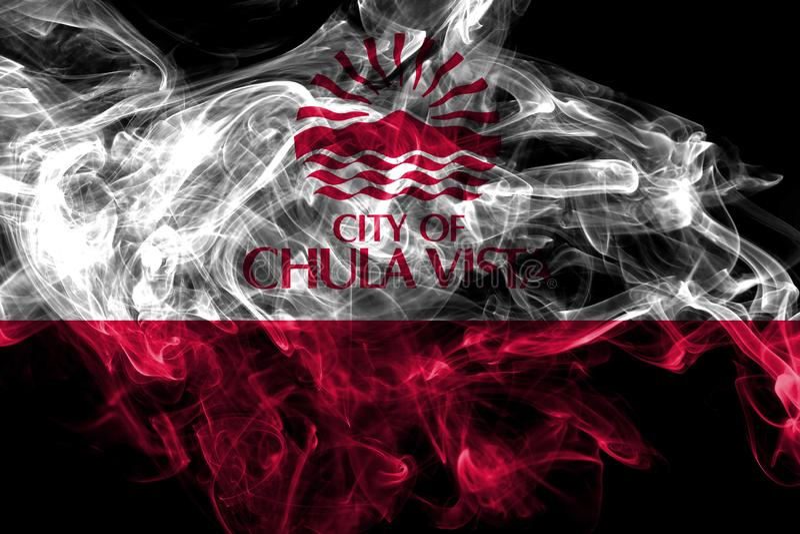 Vista Chula σημαία καπνού πόλεων, κράτος Καλιφόρνιας, Ηνωμένες Πολιτείες της Αμερικής απεικόνιση αποθεμάτων