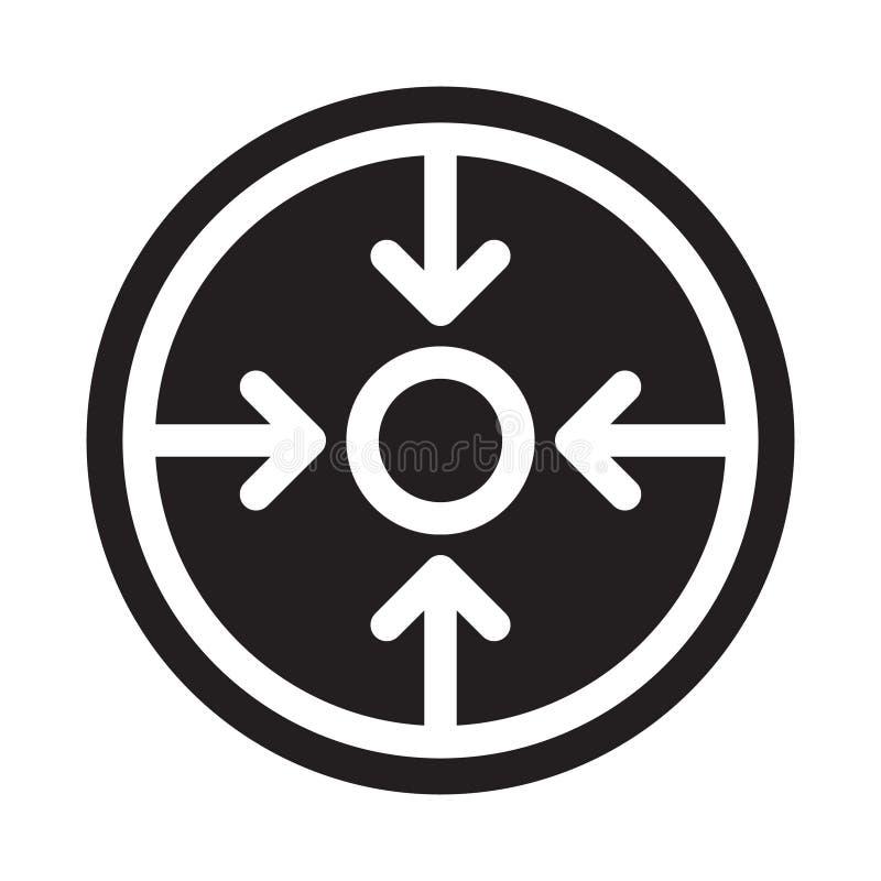 Vista con el icono de las flechas Elemento de la navegaci?n para el concepto y el icono m?viles de los apps de la web stock de ilustración