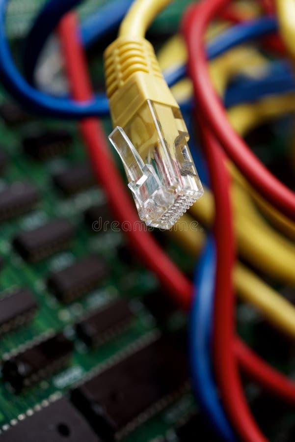Vista conceptual Ethernet fotografía de archivo libre de regalías