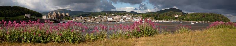 Vista a Conwy immagini stock