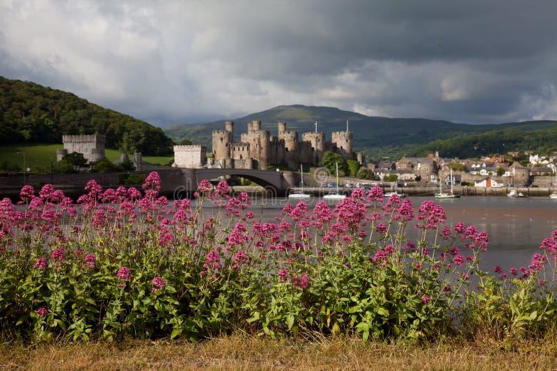 Vista a Conwy fotografie stock libere da diritti