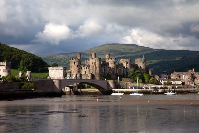 Vista a Conwy immagine stock libera da diritti
