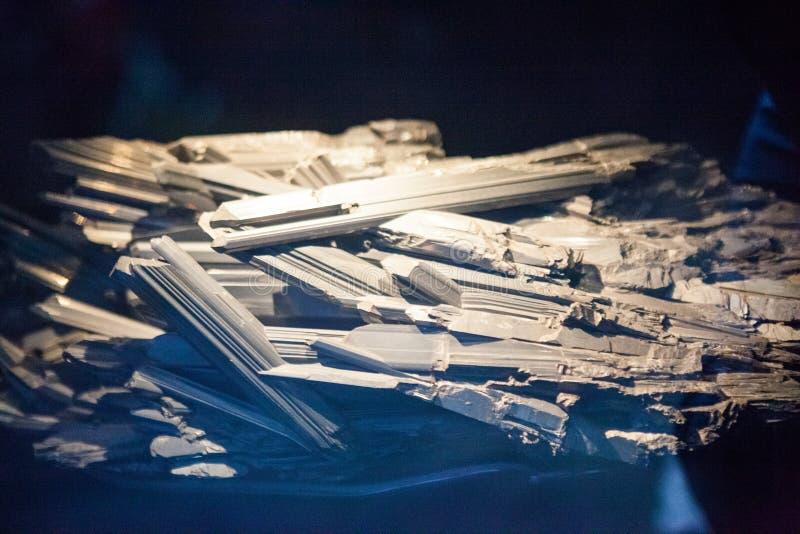 Vista cosechada del mineral imagenes de archivo