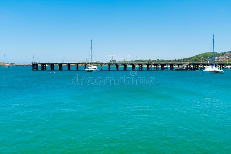 Vista costiera australiana a Coffs Harbour, Australia immagini stock libere da diritti