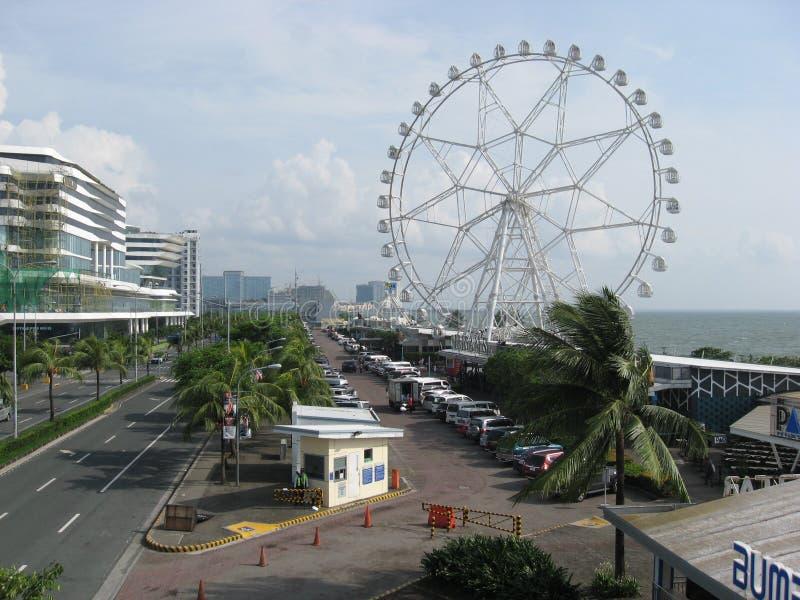 Vista da alameda do olho de Ásia, metro Manila, Filipinas fotos de stock