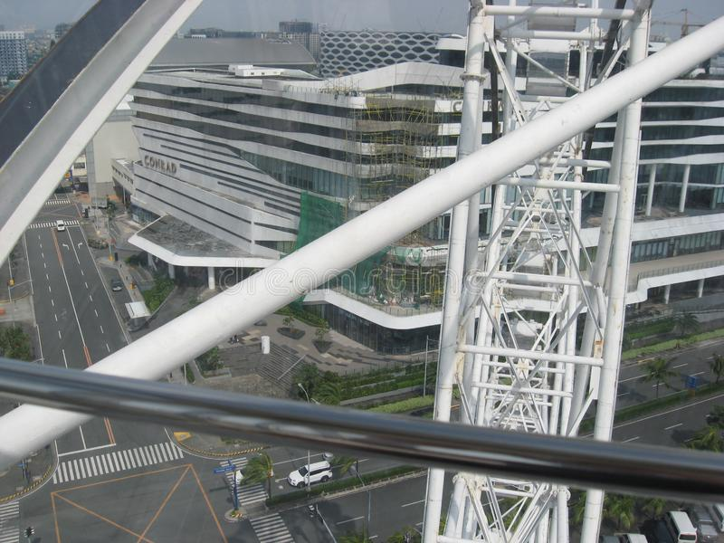 Vista da alameda do olho de ?sia, metro Manila, Filipinas imagem de stock