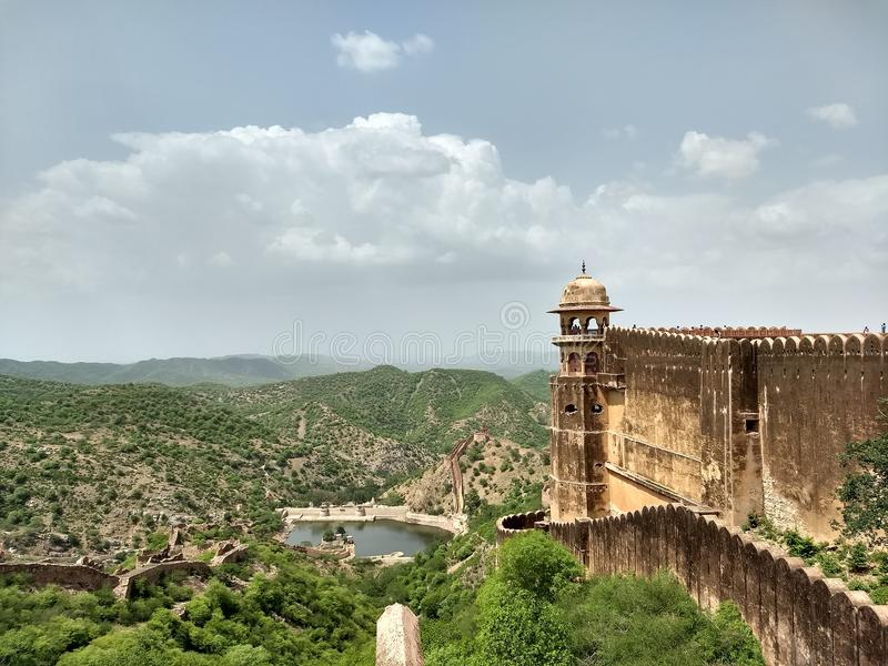 Vista da Amer Fort immagini stock