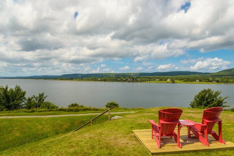 Vista da bacia de Annapolis do forte Anne foto de stock