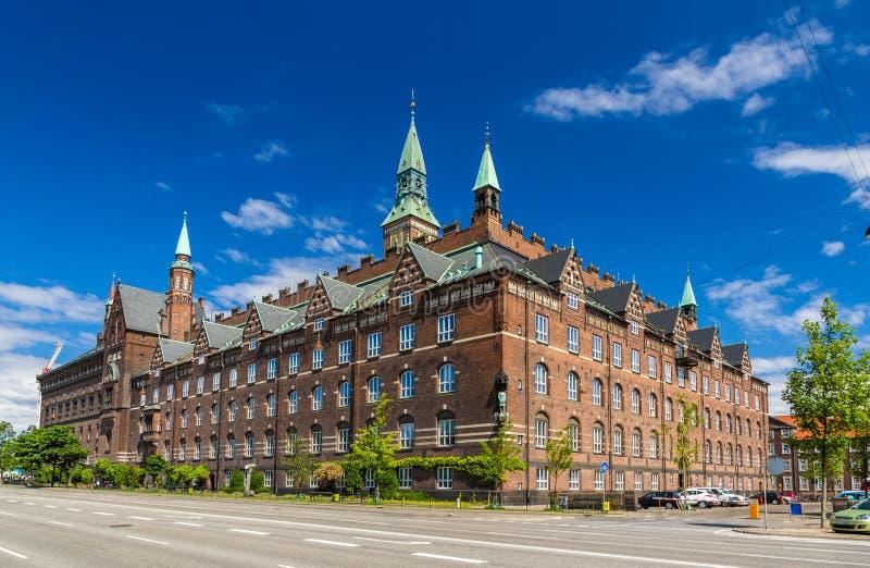 Vista da câmara municipal de Copenhaga, Dinamarca foto de stock royalty free
