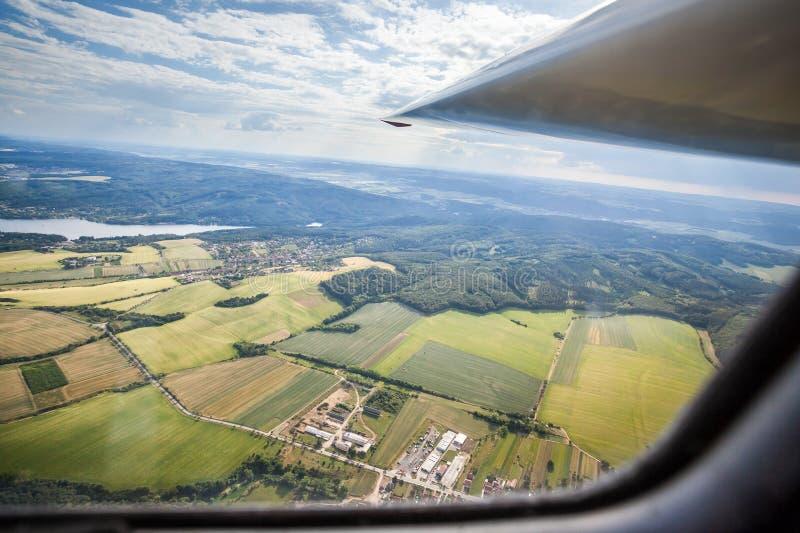 A vista da cabina do piloto de um planador imagem de stock royalty free