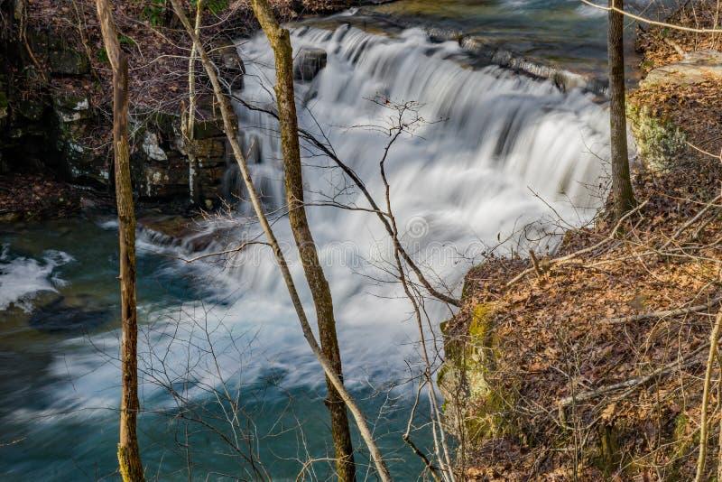 A vista da cachoeira principal Fenwick mina cachoeiras imagem de stock