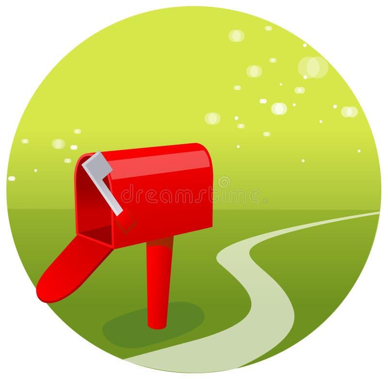 A vista da caixa postal vazia ilustração do vetor