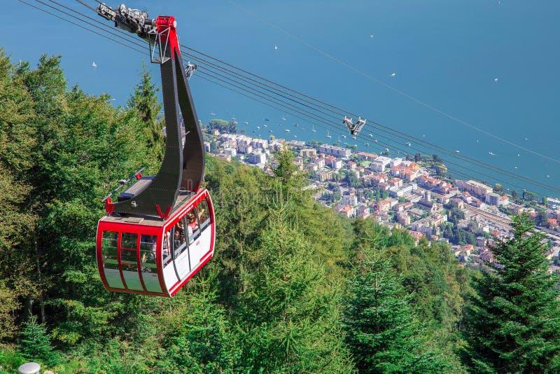 Vista da Cardada, Locarno, cantone il Ticino switzerland fotografie stock libere da diritti