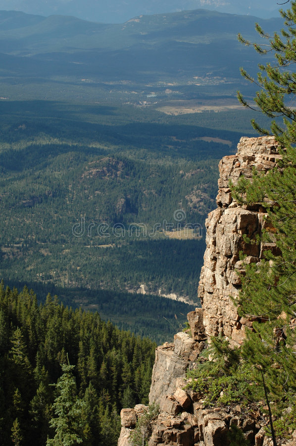 Vista da Castle Rock fotografia stock libera da diritti