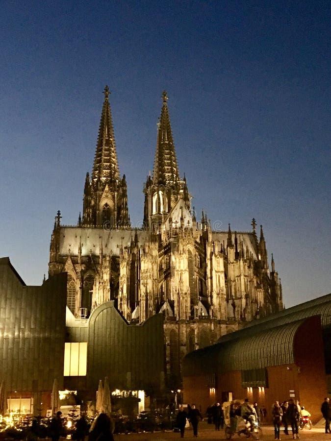 Vista da catedral da água de Colônia fotografia de stock