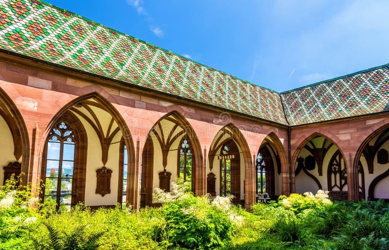 Vista da catedral da igreja de Basileia imagem de stock