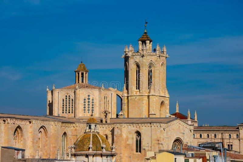 Vista da catedral de Tarragona foto de stock royalty free