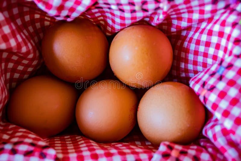 Vista da cesta do ovo imagens de stock