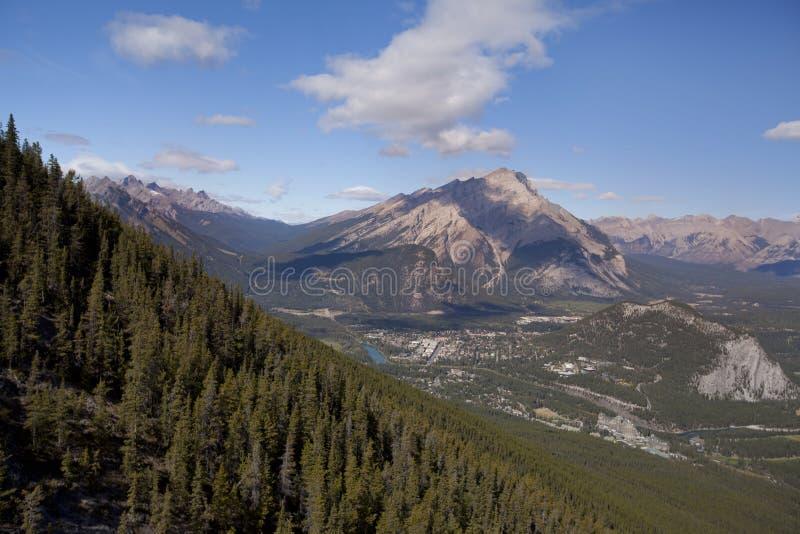 Vista da cidade Alberta de banff fotografia de stock royalty free