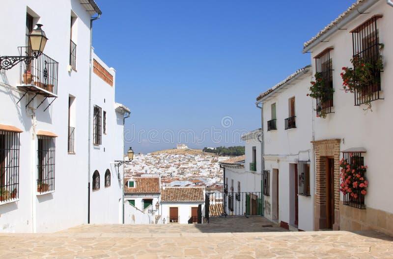 Vista da cidade andaluza Antequera, Spain foto de stock