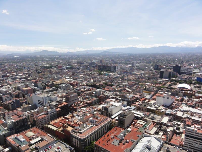 Vista da cidade de Ciudad de Cidade do México da parte superior da torre latino-americano - México fotos de stock