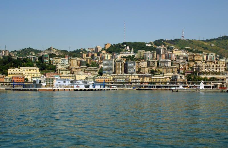 Vista da cidade de Genoa, Italy imagens de stock