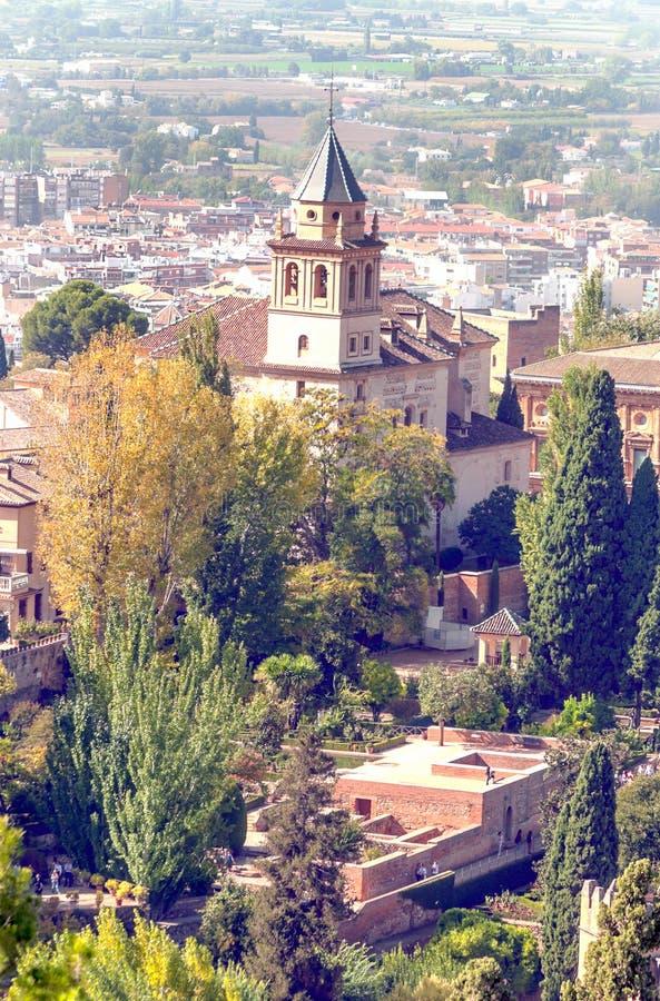 Vista da cidade de Granada fotos de stock