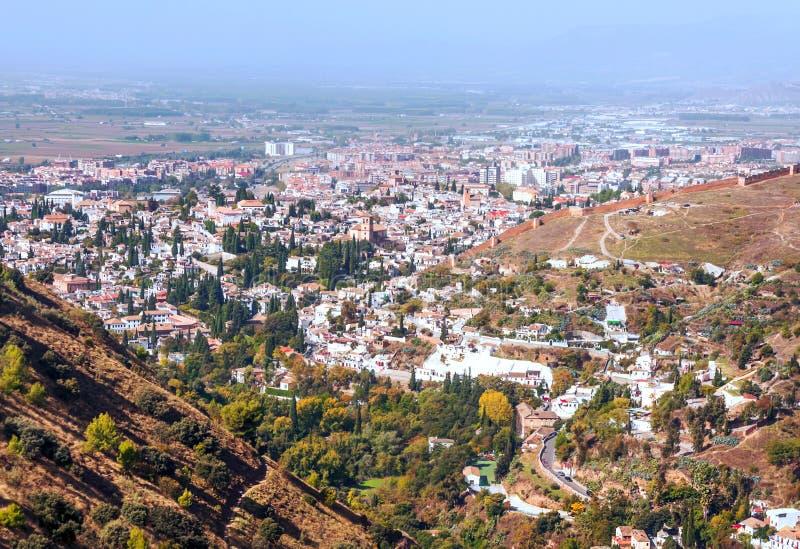 Vista da cidade de Granada fotografia de stock royalty free