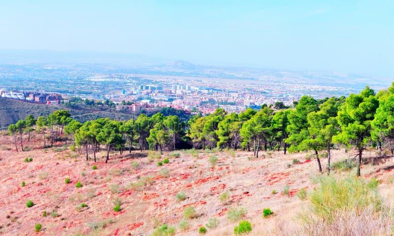 Vista da cidade de Granada fotografia de stock