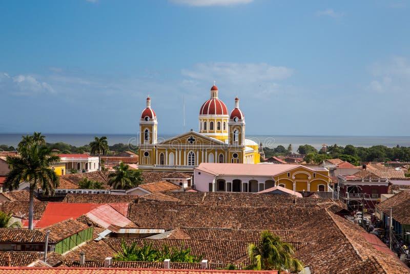 Vista da cidade de Granada, Nicarágua fotos de stock royalty free