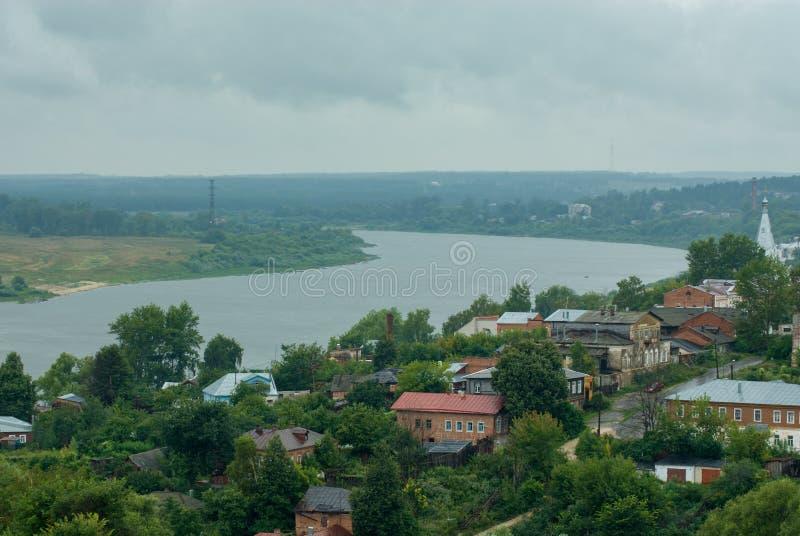 Vista da cidade de Kasimov, Rússia foto de stock royalty free