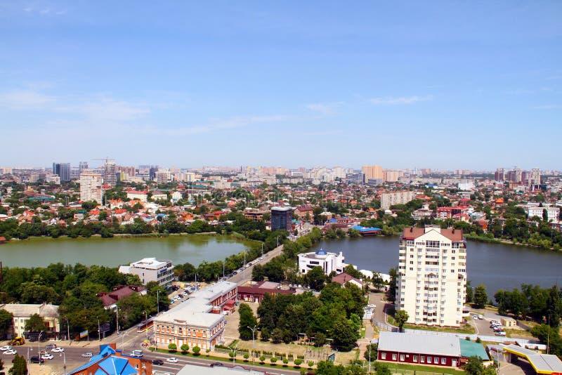 Vista da cidade de Krasnodar fotos de stock royalty free
