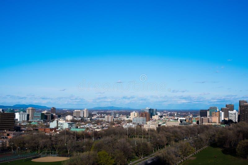 Vista da cidade de Montreal imagens de stock