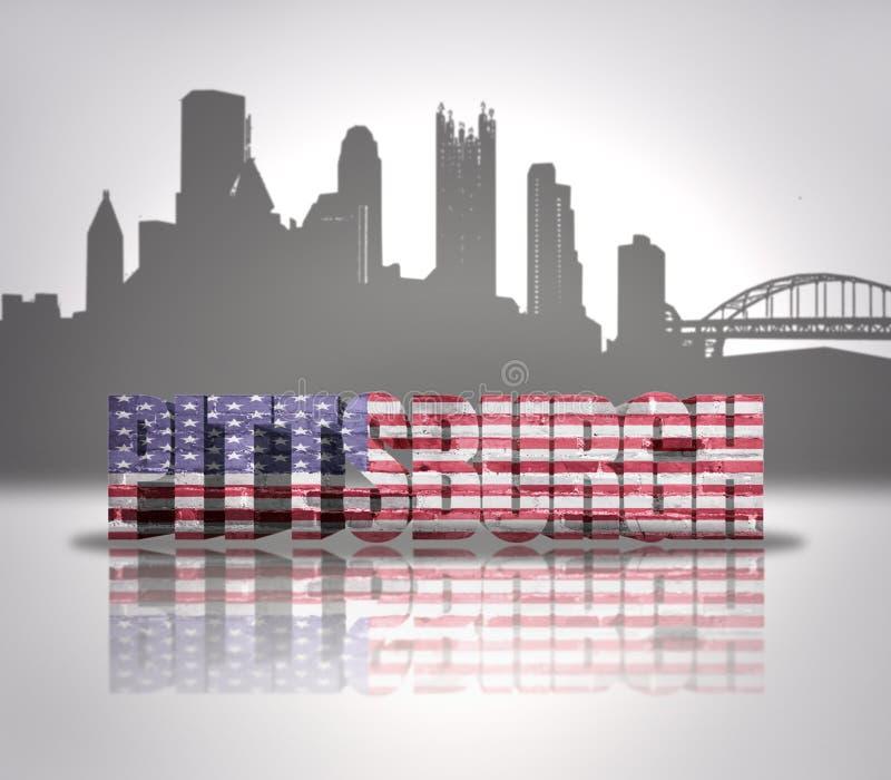 Vista da cidade de Pittsburgh ilustração stock
