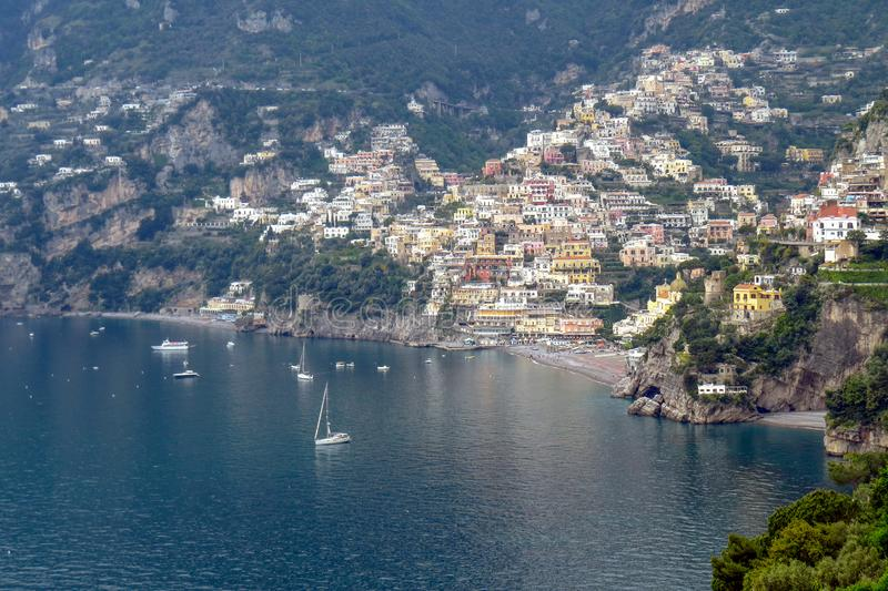 Vista da cidade de Positano imagem de stock royalty free