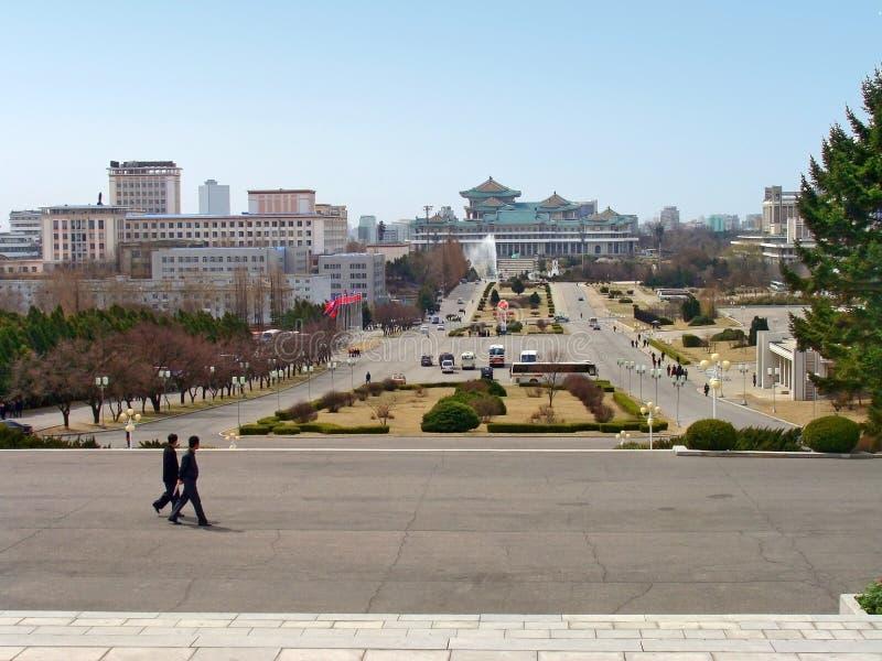 Vista da cidade de Pyongyang - capital da Coreia do Norte foto de stock royalty free