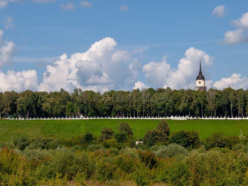 Vista da cidade do russo de Kaluga fotos de stock royalty free