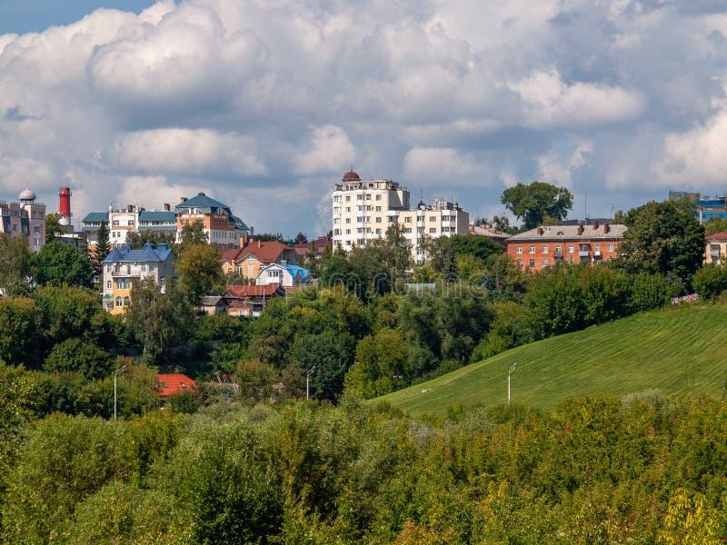 Vista da cidade do russo de Kaluga imagem de stock