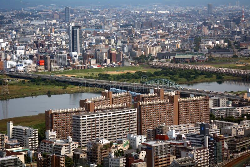 Vista da cidade, Osaka, Japão fotos de stock royalty free