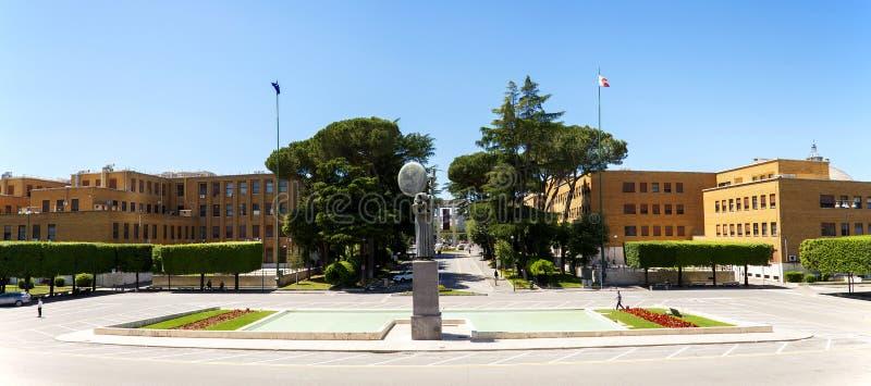 Vista da cidade da universidade de Sapienza, Roma imagem de stock royalty free