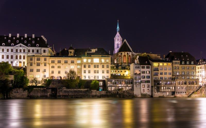 Vista da cidade velha de Basileia em Suíça fotos de stock