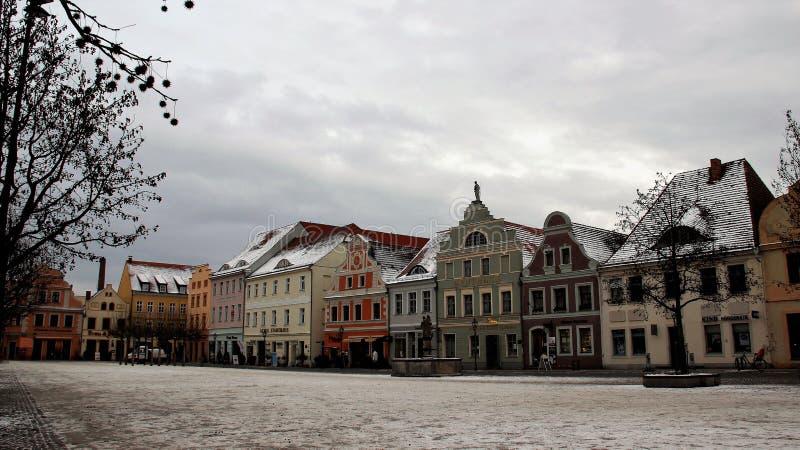 Vista da cidade velha no inverno local e no estilo barroco fotografia de stock royalty free
