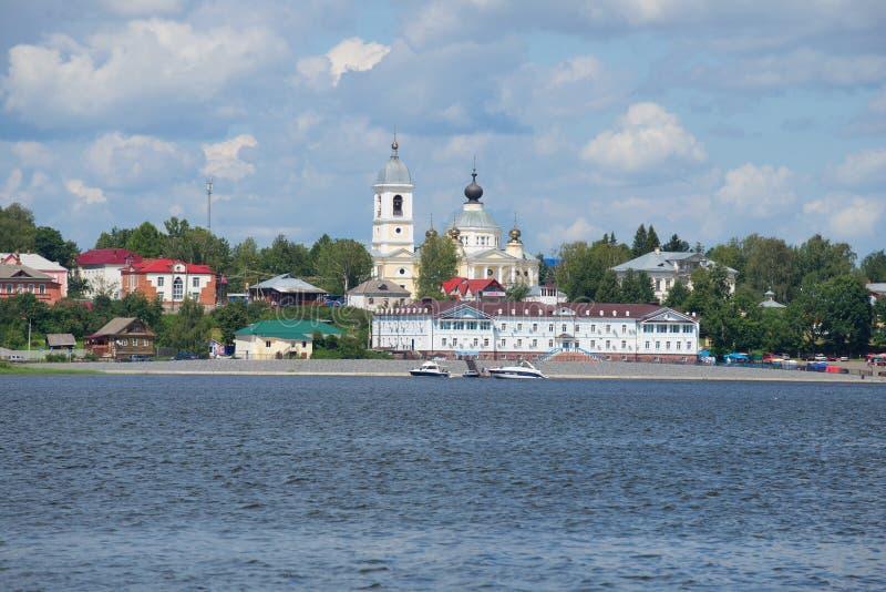 Vista da cimeira do complexo do hotel Myshkin, Rússia foto de stock royalty free