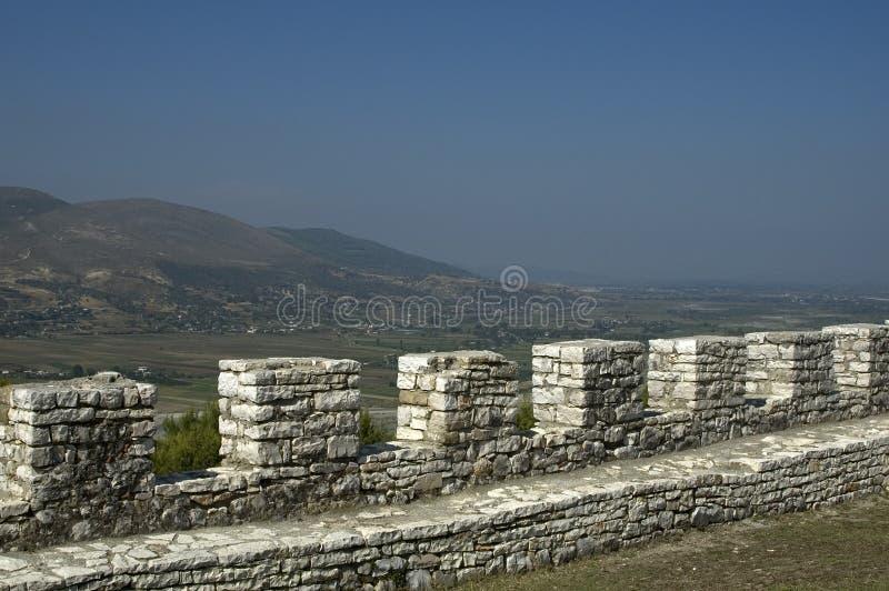 Vista da citadela, Berati, Albânia imagens de stock royalty free